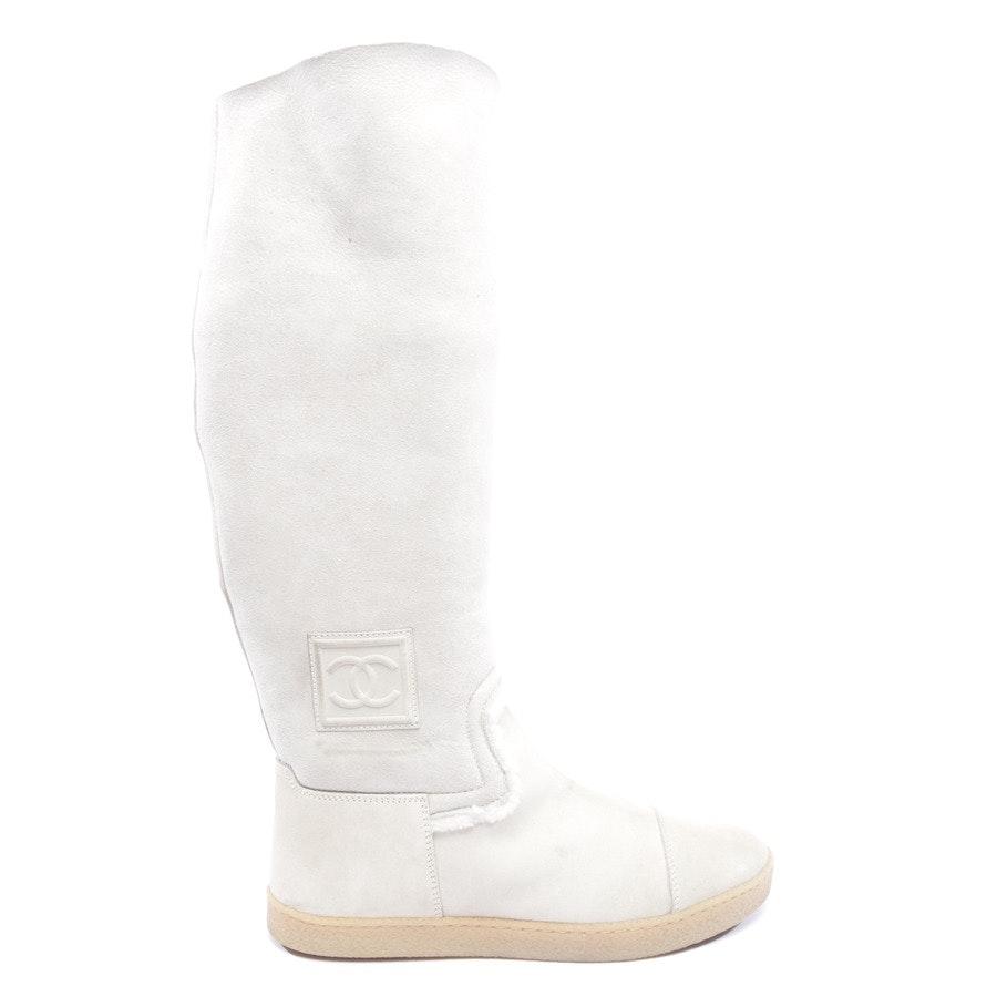 Stiefel von Chanel in Creme Gr. EUR 39