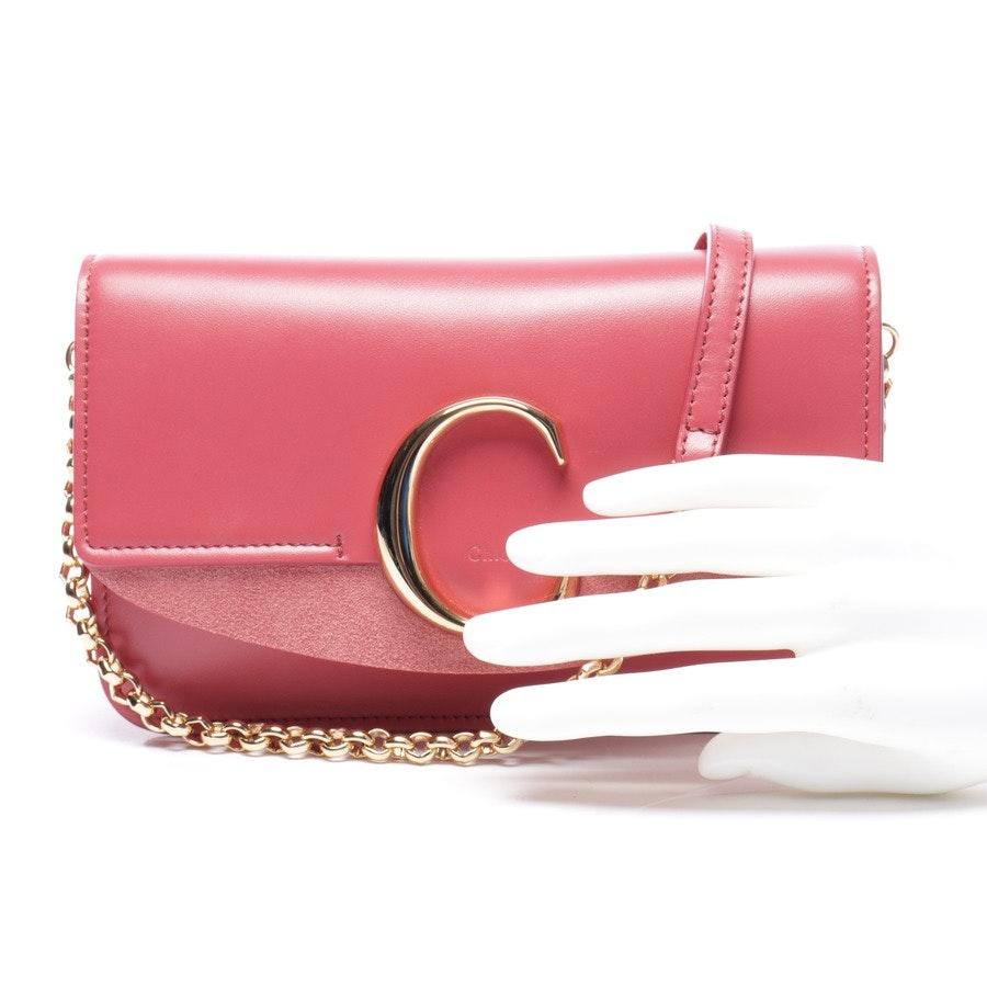 Abendtasche von Chloé in Himbeer - C Bag Wallet on a Chain