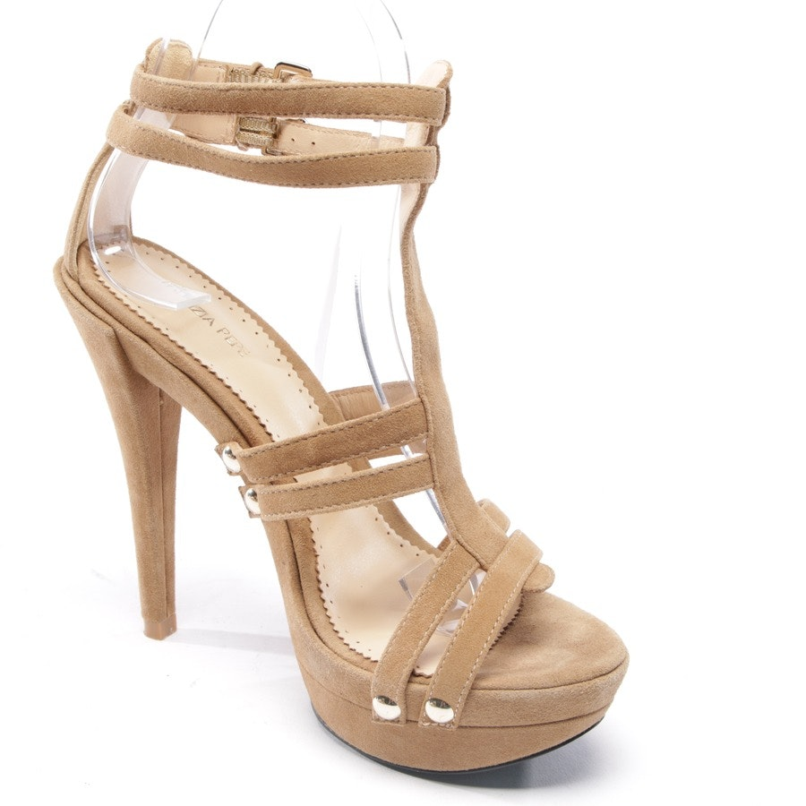 heeled sandals from Patrizia Pepe in beige brown size D 37