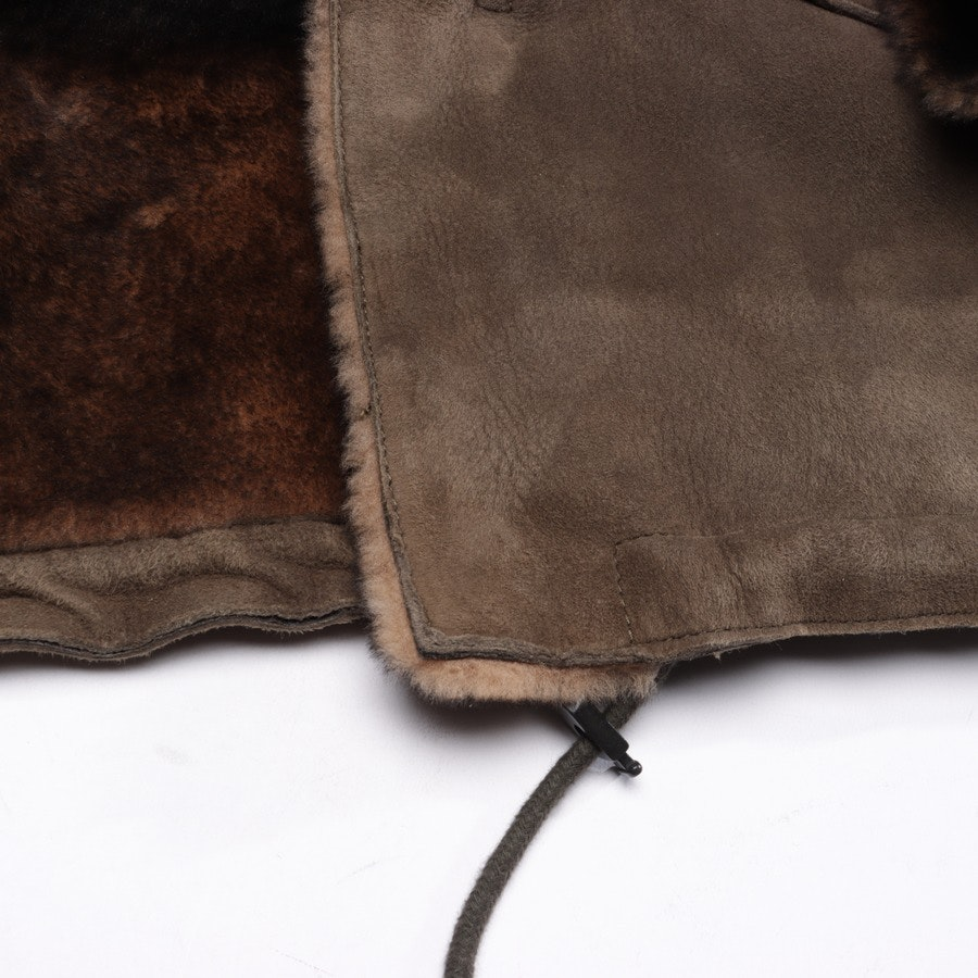 Lammfelljacke von Emporio Armani in Khaki Gr. 52