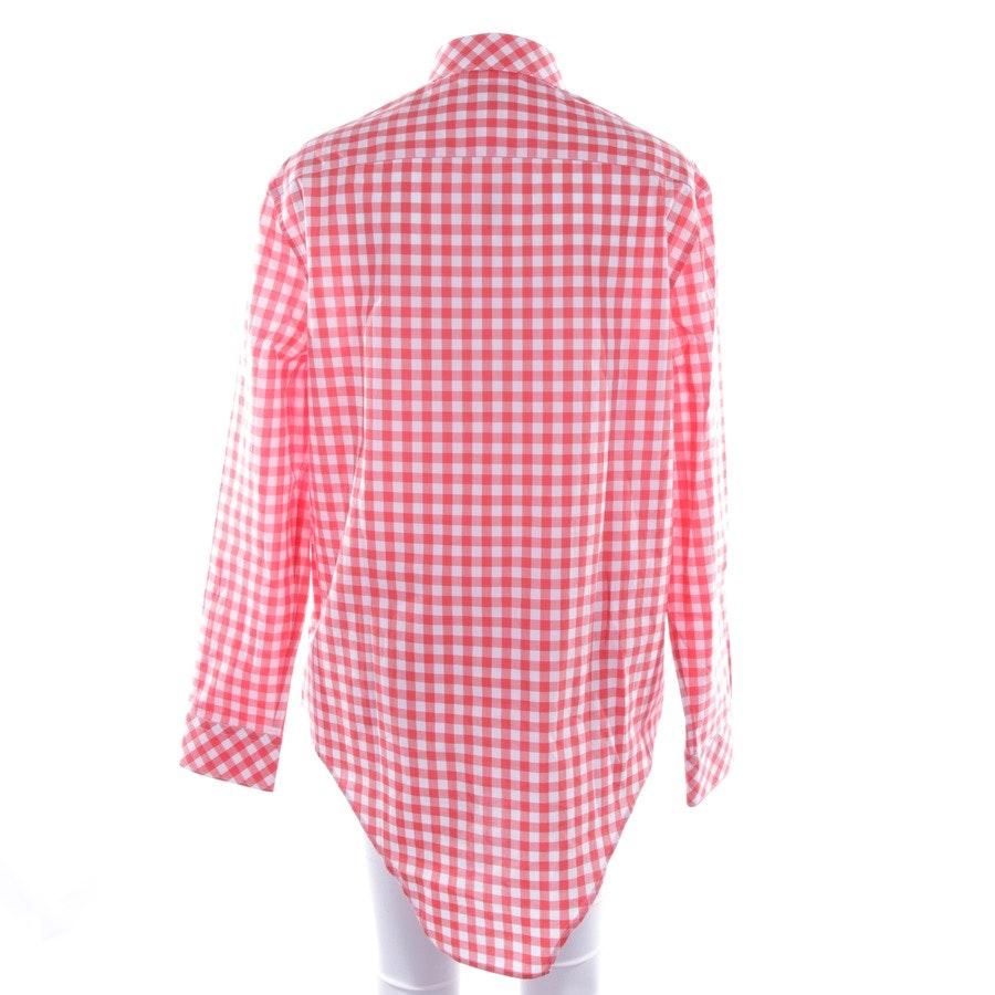 Bluse von Burberry in Rot und Weiß Gr. S