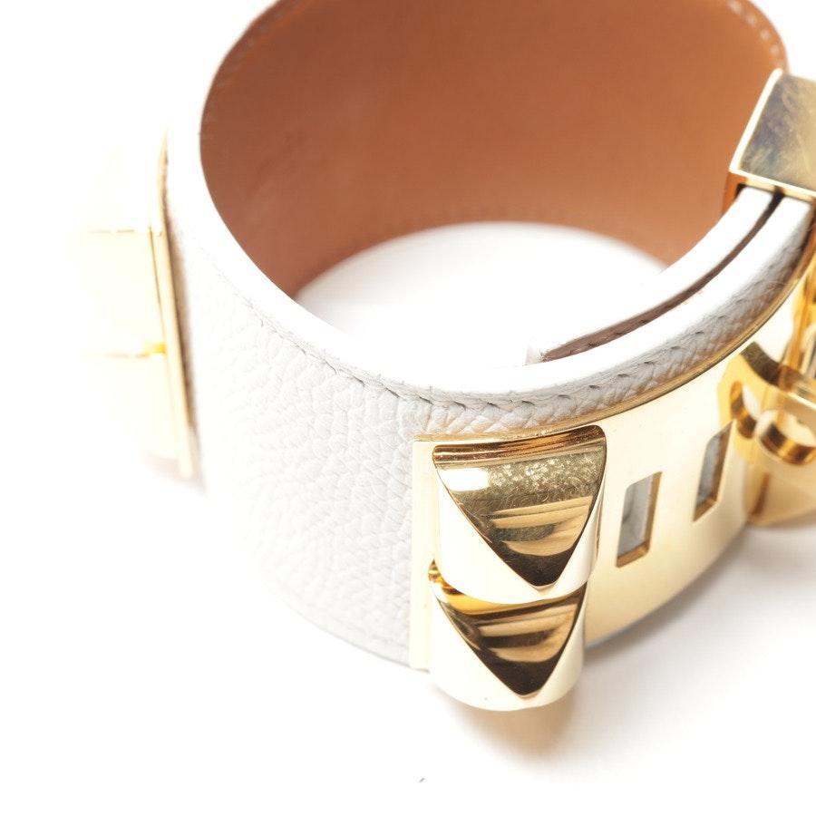 Lederarmband von Hermès in Weiß - Collier de Chien
