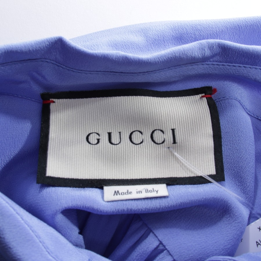 Seidenbluse von Gucci in Himmelblau Gr. 36 IT 42