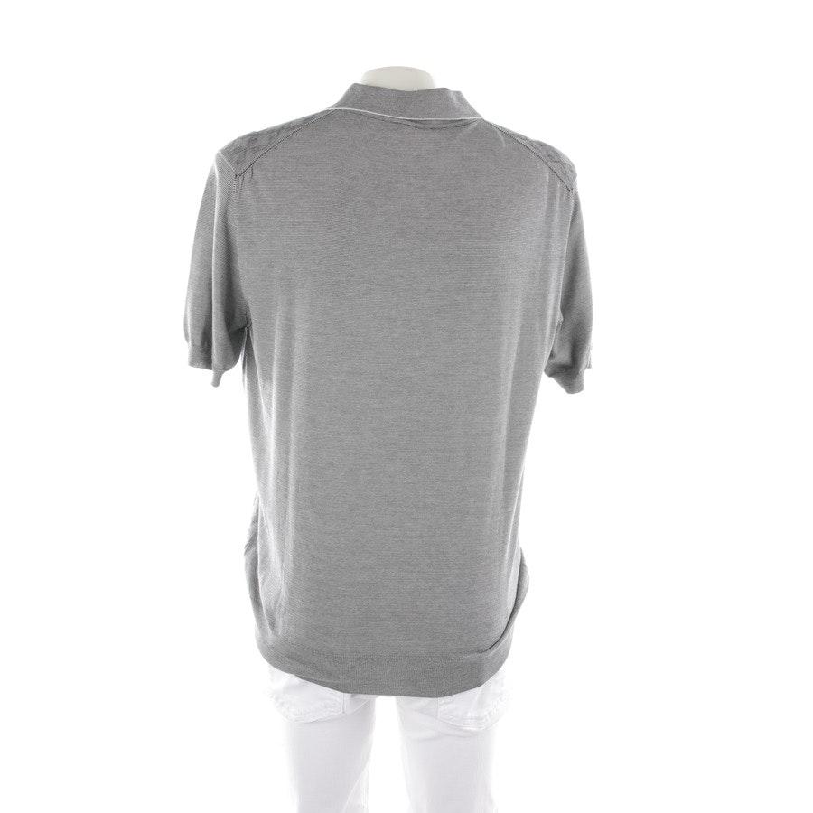 Poloshirt von Brioni in Grau meliert Gr. 56