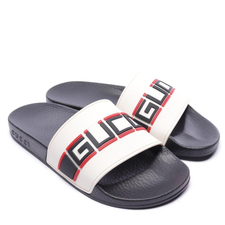 Badeschuhe von Gucci in Schwarz und Multicolor Gr. EUR 35 - Neu - White Rubber Stripe Slide
