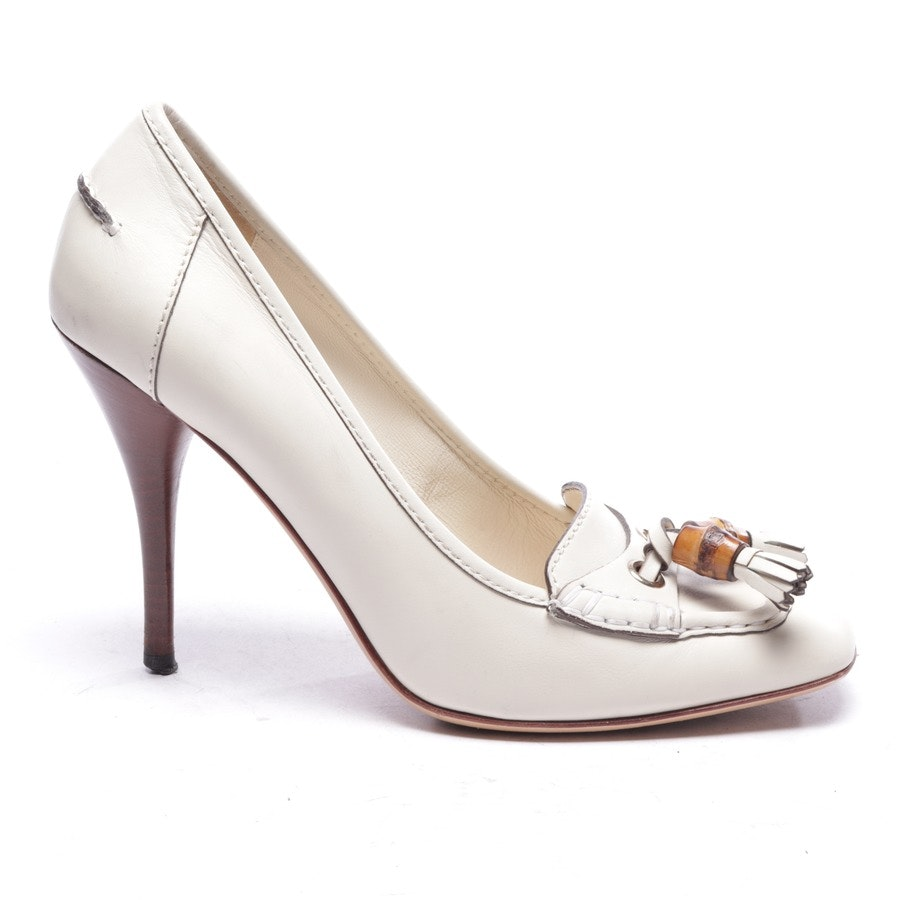 Pumps von Gucci in Cremeweiß Gr. EUR 40 UK 7,5