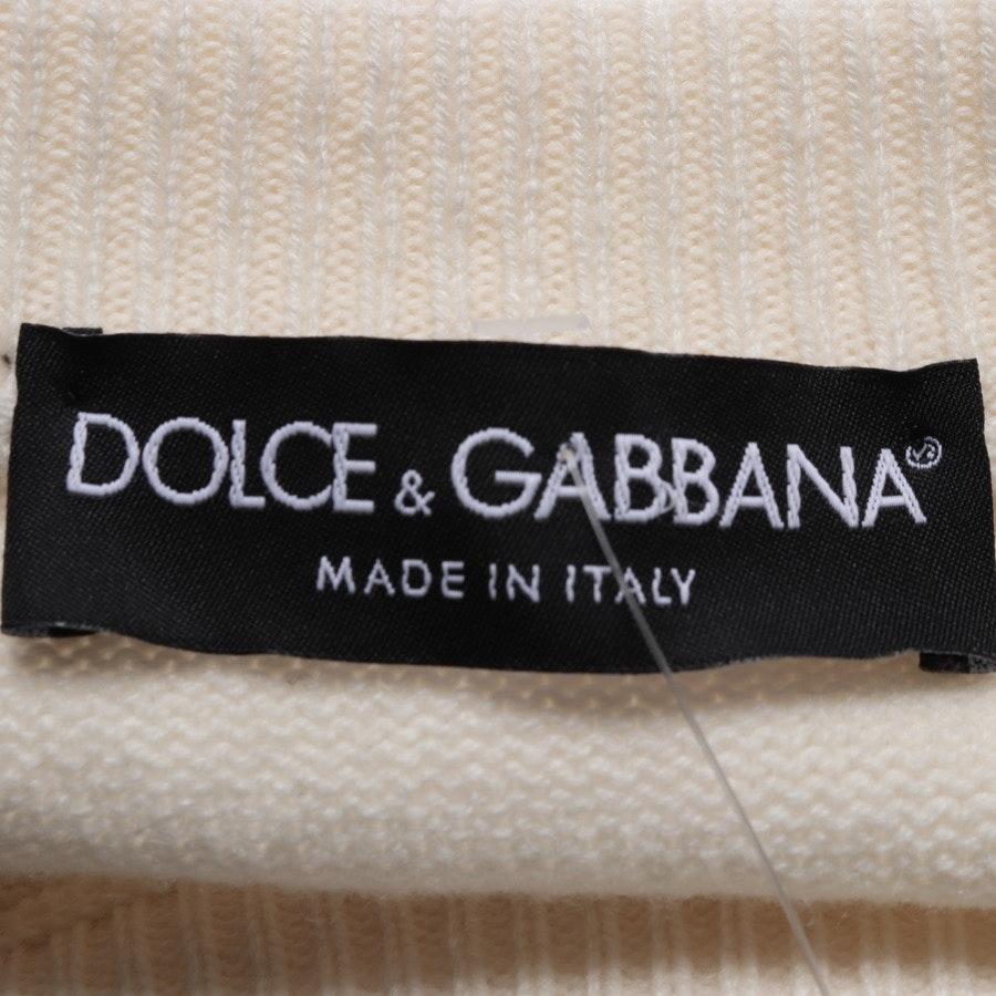 Strickpullover von Dolce & Gabbana in Beige und Rot Gr. 40 IT 46