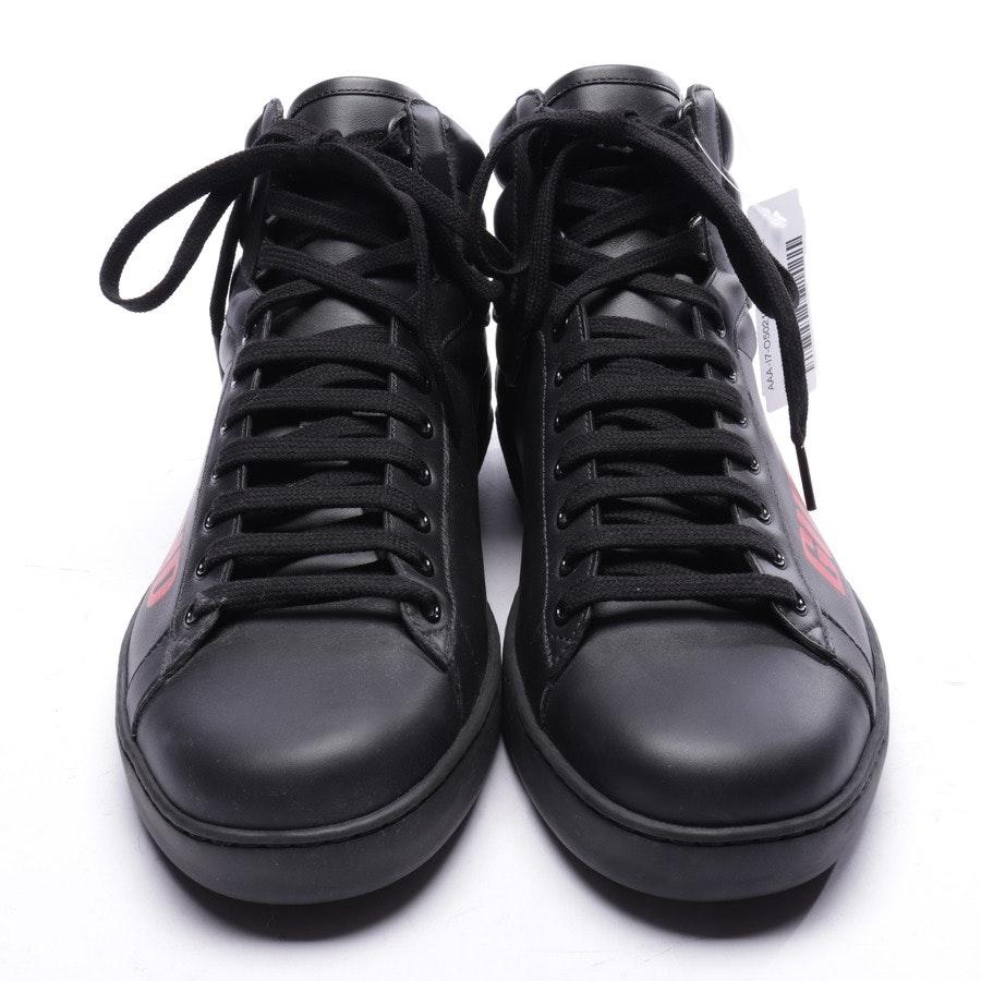 High-Top Sneaker von Gucci in Schwarz und Rot Gr. EUR 44 UK 10 - Neu