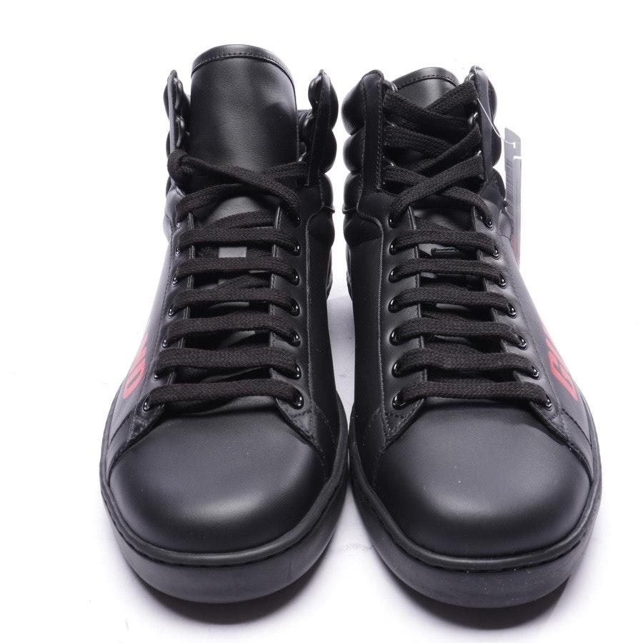 High-Top Sneaker von Gucci in Schwarz und Rot Gr. EUR 42,5 UK 8,5 - Neu