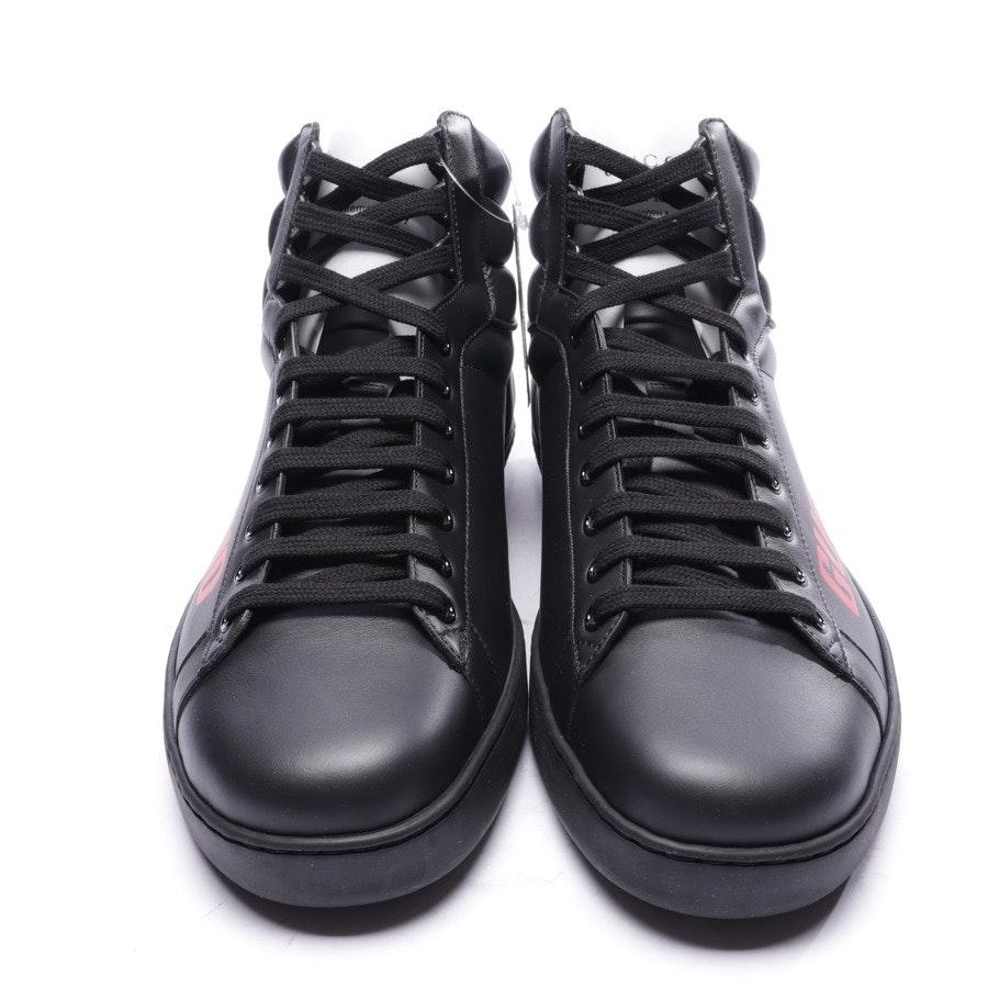 High-Top Sneaker von Gucci in Schwarz und Rot Gr. EUR 45 UK 11 - Neu