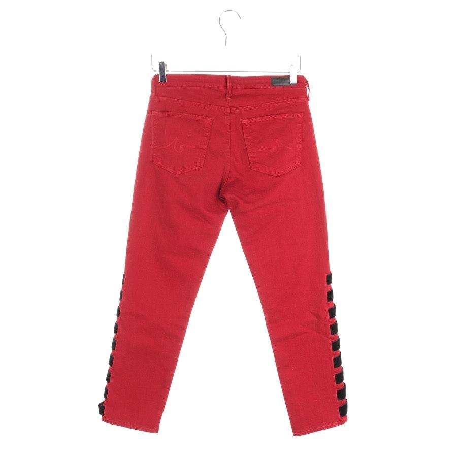 Jeans von AG Jeans in Rot und Schwarz Gr. W27 - Prima Crop Intertwined - Neu