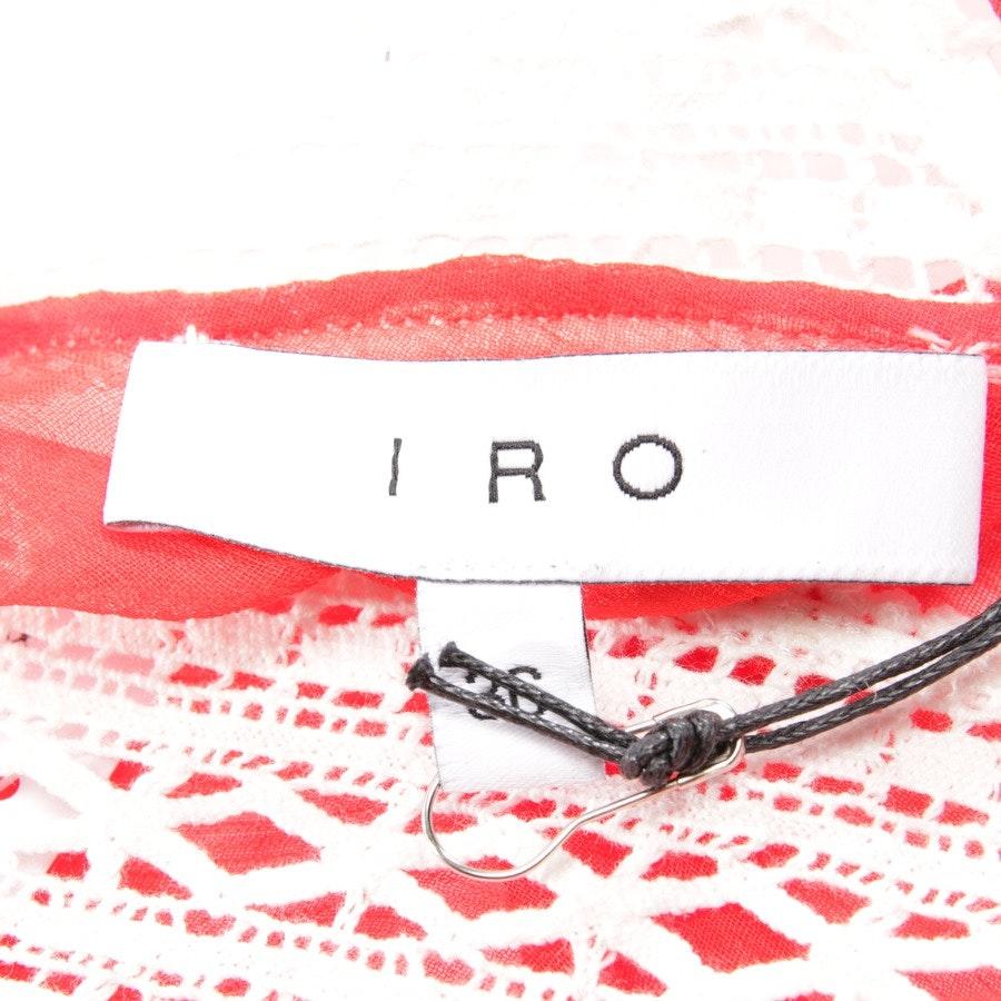 Tunika von Iro in Rot und Weiß Gr. DE 34 FR 36 - NEU mit Etikett