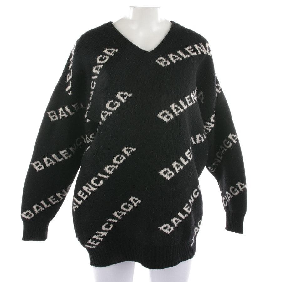 Strickpullover von Balenciaga in Schwarz und Weiß Gr. 32 FR 34
