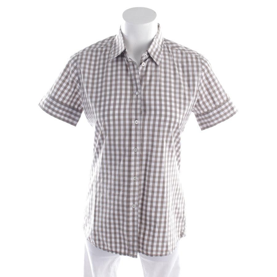 Bluse von Marc O'Polo in Beige und Weiß Gr. 36