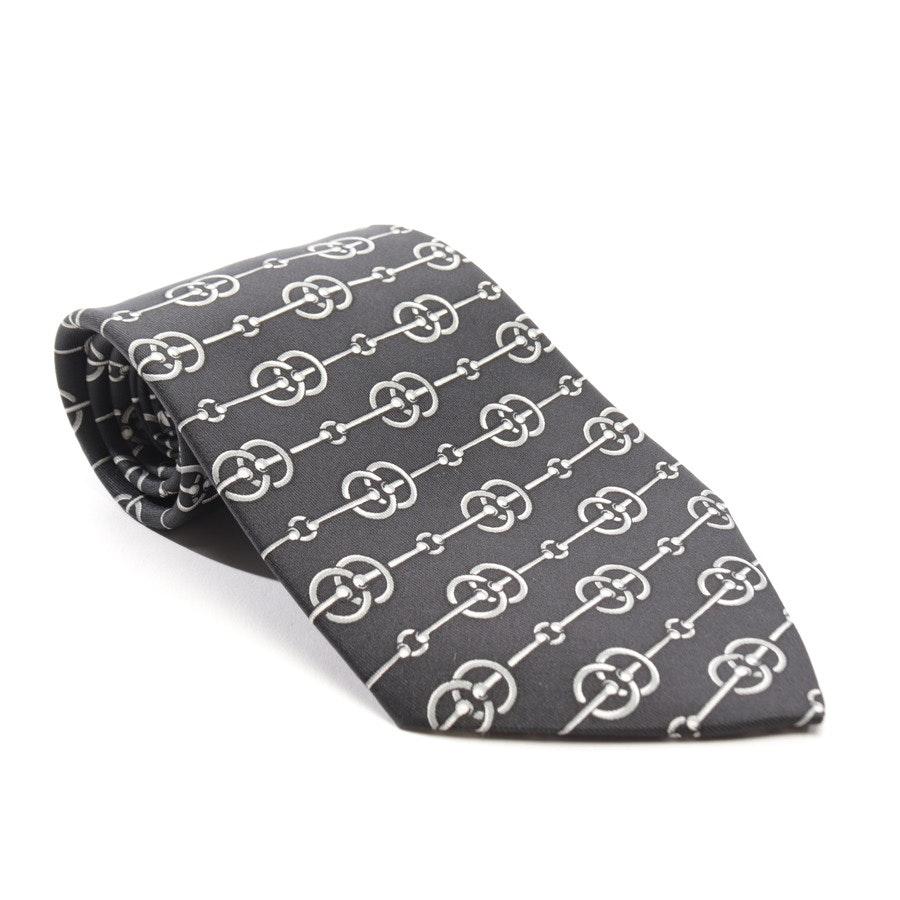 Krawatte von Hermès in Schwarz und Grau