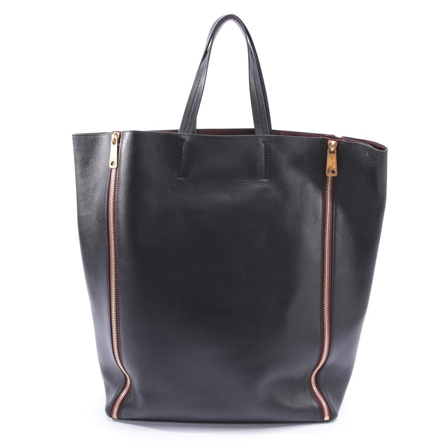 shopper from Céline in black and brown - gusset cabas tote
