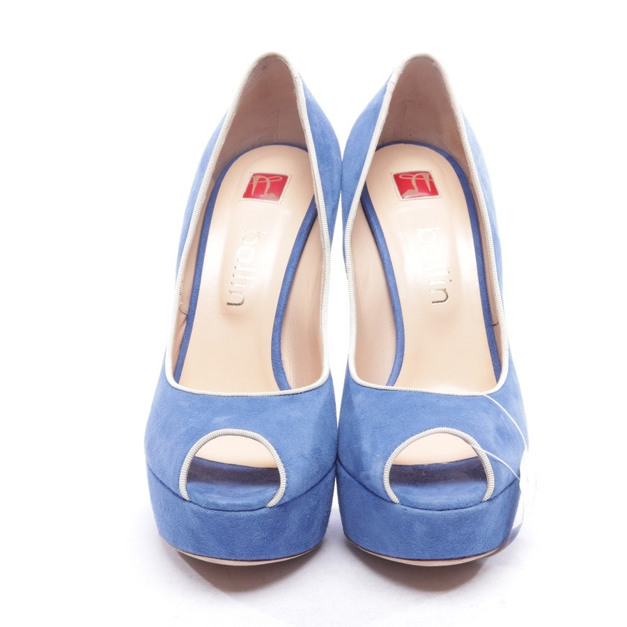 pumps from Ballin in medium blue and beige size D 39