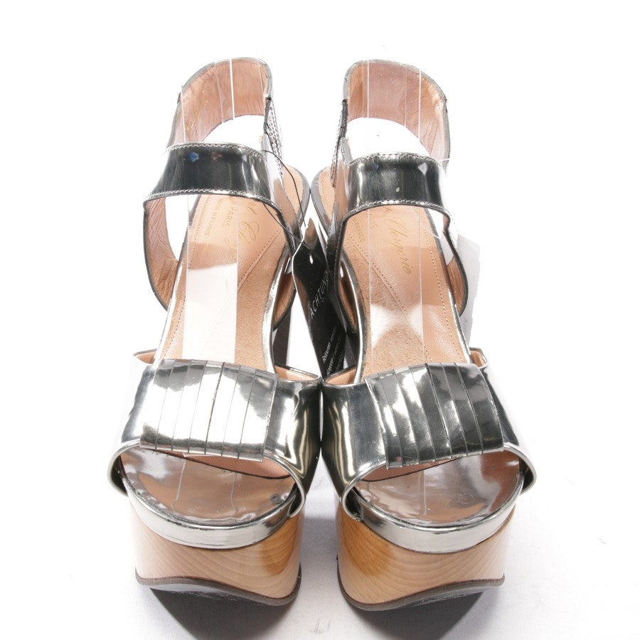 heeled sandals from Robert Clergerie in silver size D 36 - new!