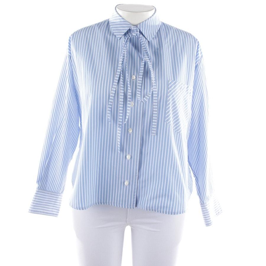 Bluse von Loewe in Hellblau und Weiß Gr. 36