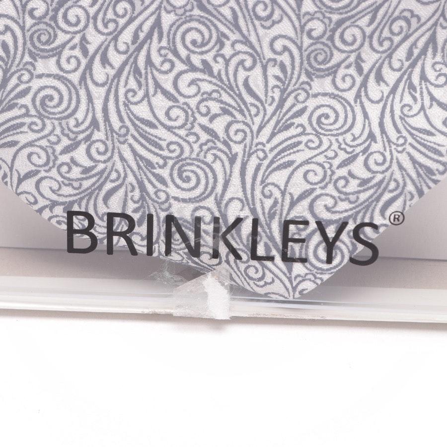 Plastron und Einstecktuch von Brinkleys in Silber und Blau - Neu