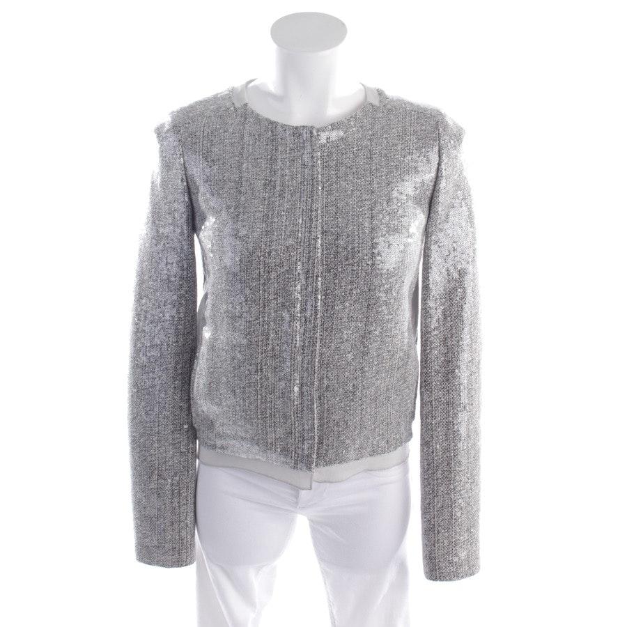 Übergangsjacke von Diane von Furstenberg in Grau meliert Gr. 32 US 2 - Tamali Crystal