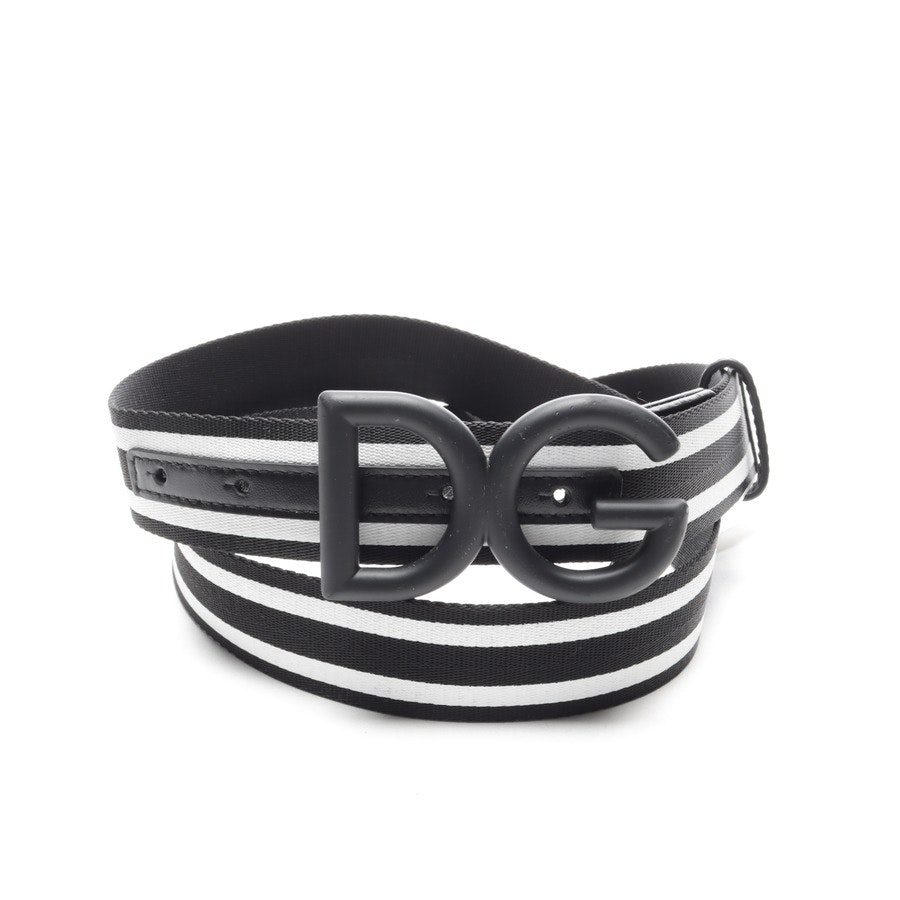 Gürtel von Dolce & Gabbana in Schwarz und Weiß Gr. 95 cm