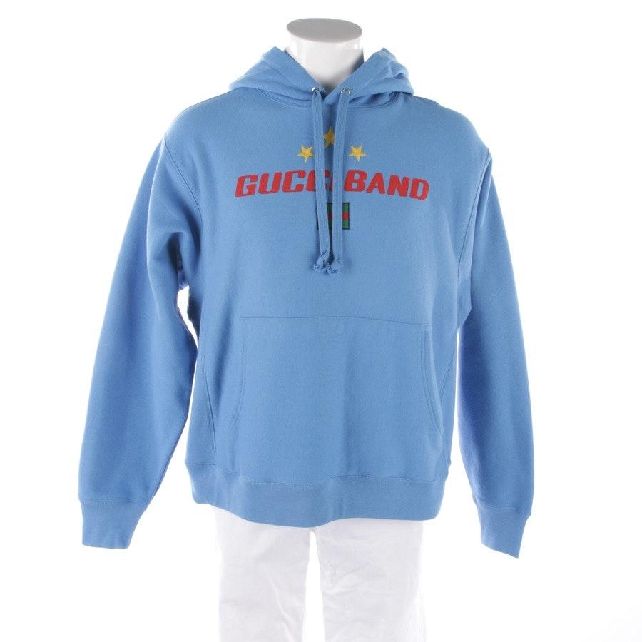 Kapuzenpullover von Gucci in Stahlblau Gr. S