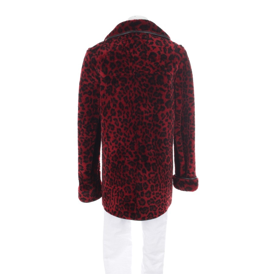 winter coat from Miu Miu in red and black size 34 IT 40