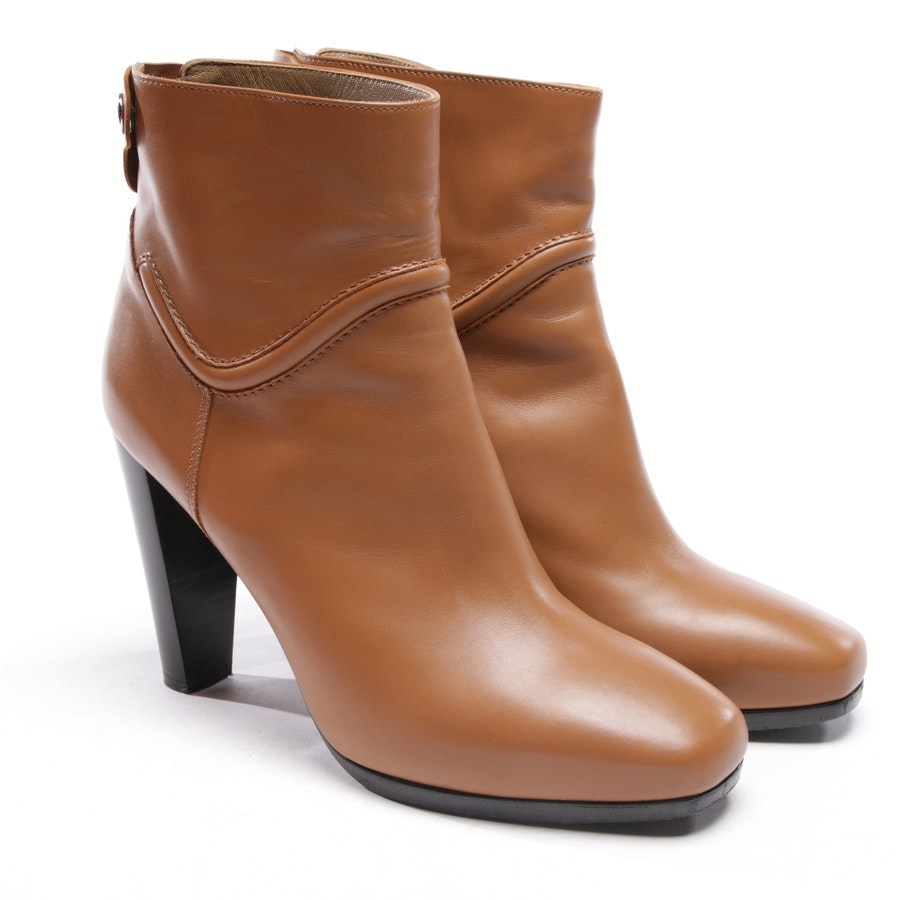 ankle boots from Hermès in cognac size D 41