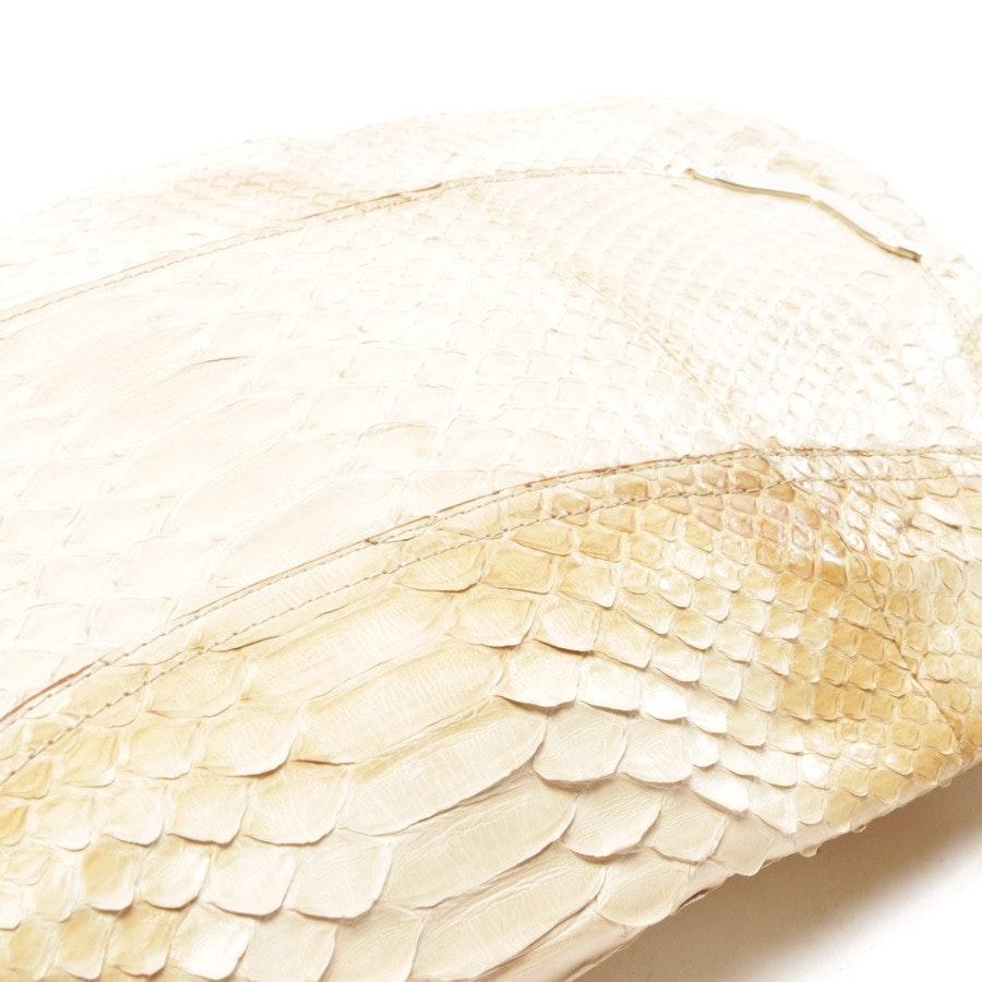 Schultertasche von Anya Hindmarch in Beige - Reptil