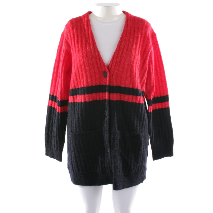 Strickjacke von By Malene Birger in Rot und Blau Gr. L