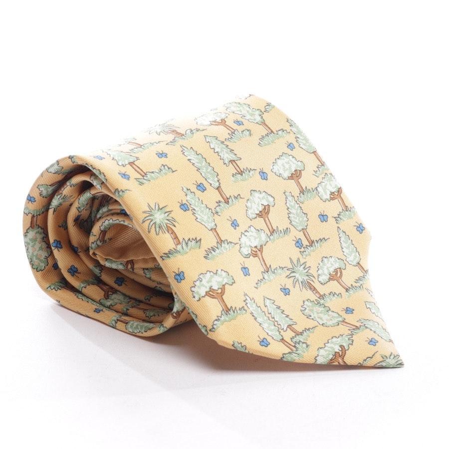 Krawatte von Hermès in Beige und Grün