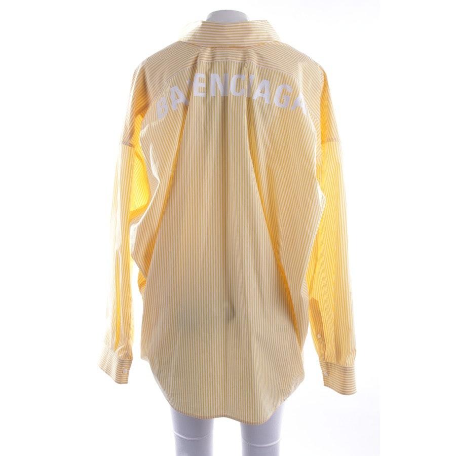 Bluse von Balenciaga in Gelb und Weiß Gr. 30 IT36