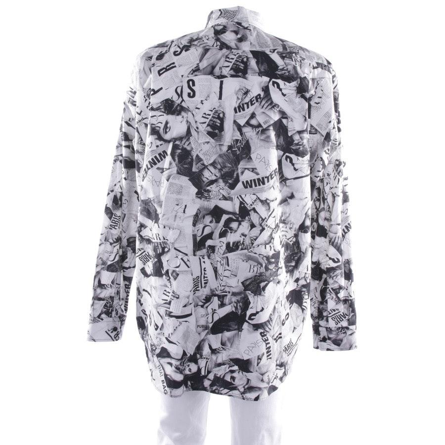 Freizeithemd von Balenciaga in Schwarz und Weiß Gr. 40