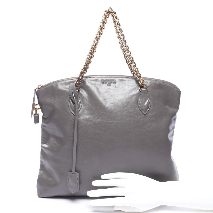 Schultertasche von Louis Vuitton in Anthrazit Chain Boudoir