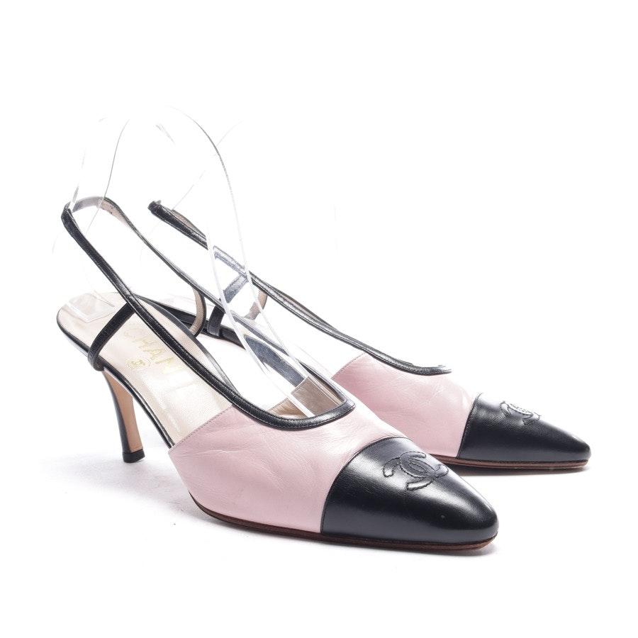 Slingbacks von Chanel in Rosa und Schwarz Gr. EUR 39