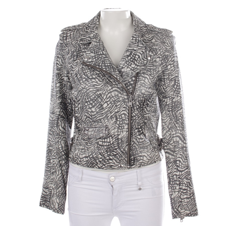 leather jacket from Iro in white and black size 36/1