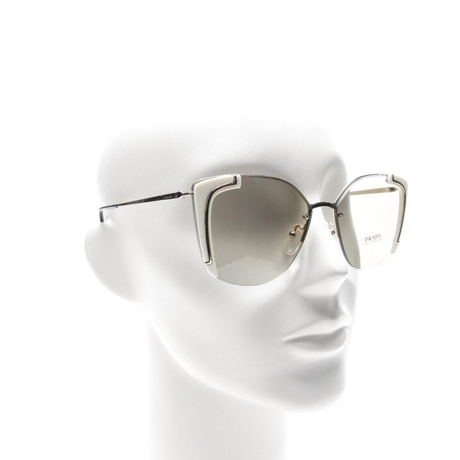 Sonnenbrille von Prada Linea Rossa in Gold und Schwarz SPR59V Neu