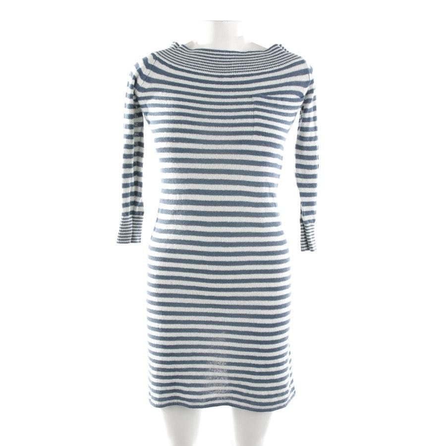 Kleid von Louis Vuitton in Creme und Blau Gr. XS