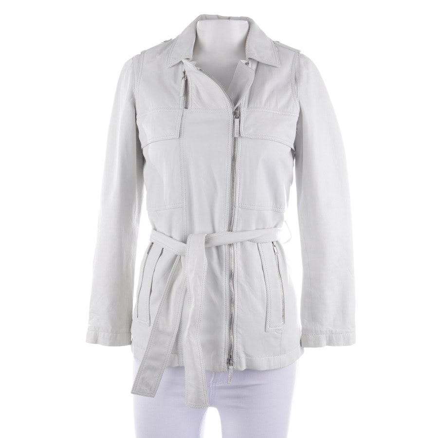 Lederjacke von Gucci in Offwhite Gr. 32 IT 38