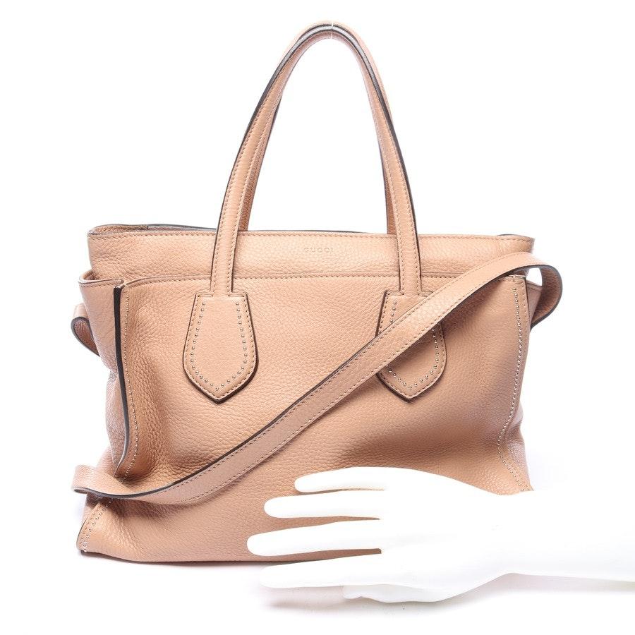 Handtasche von Gucci in Beige Ramble Studded