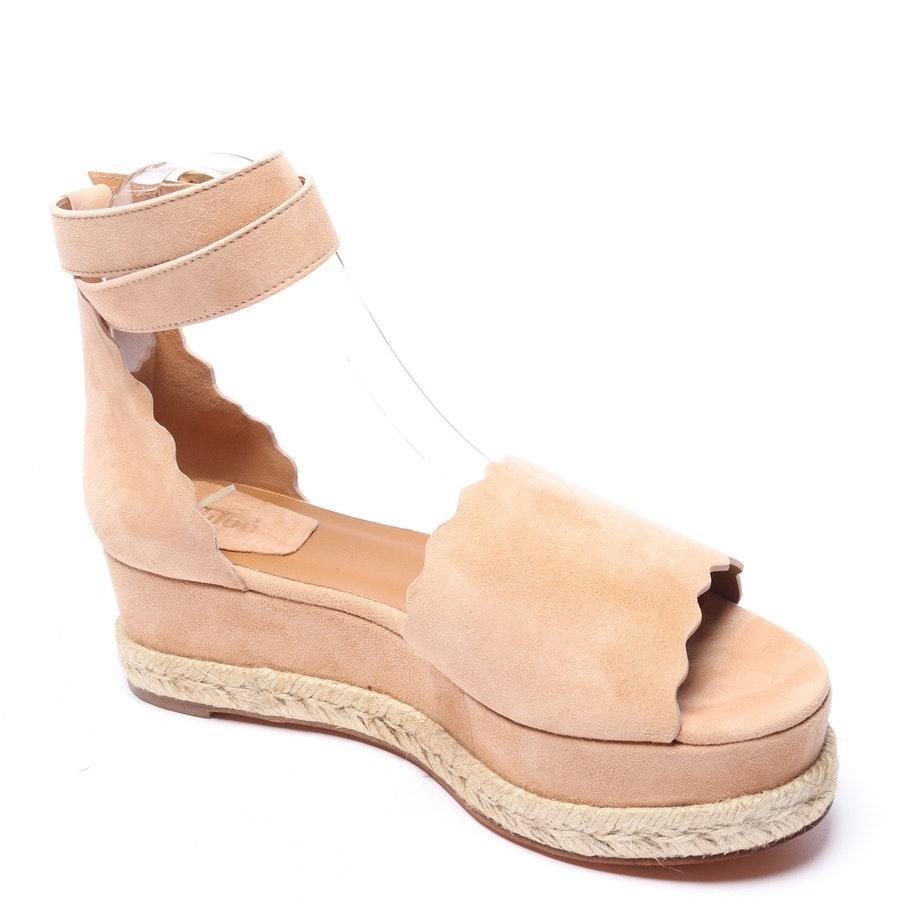 Sandaletten von Chloé in Beige Gr. EUR 39 Espadrilles Neu