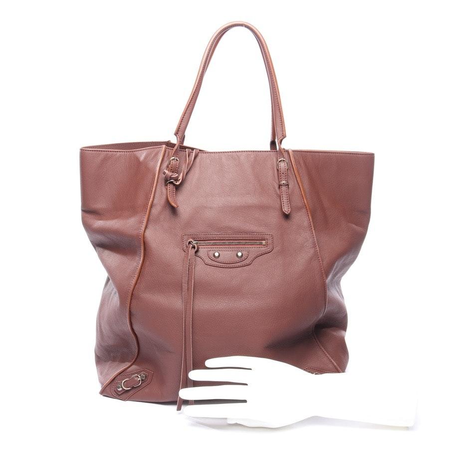 Handtasche von Balenciaga in Schokolade Veau Leather Papier Basket Tote Neu