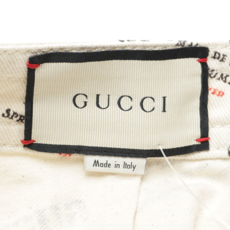 Rock von Gucci in Elfenbein und Schwarz Gr. 34 Neu
