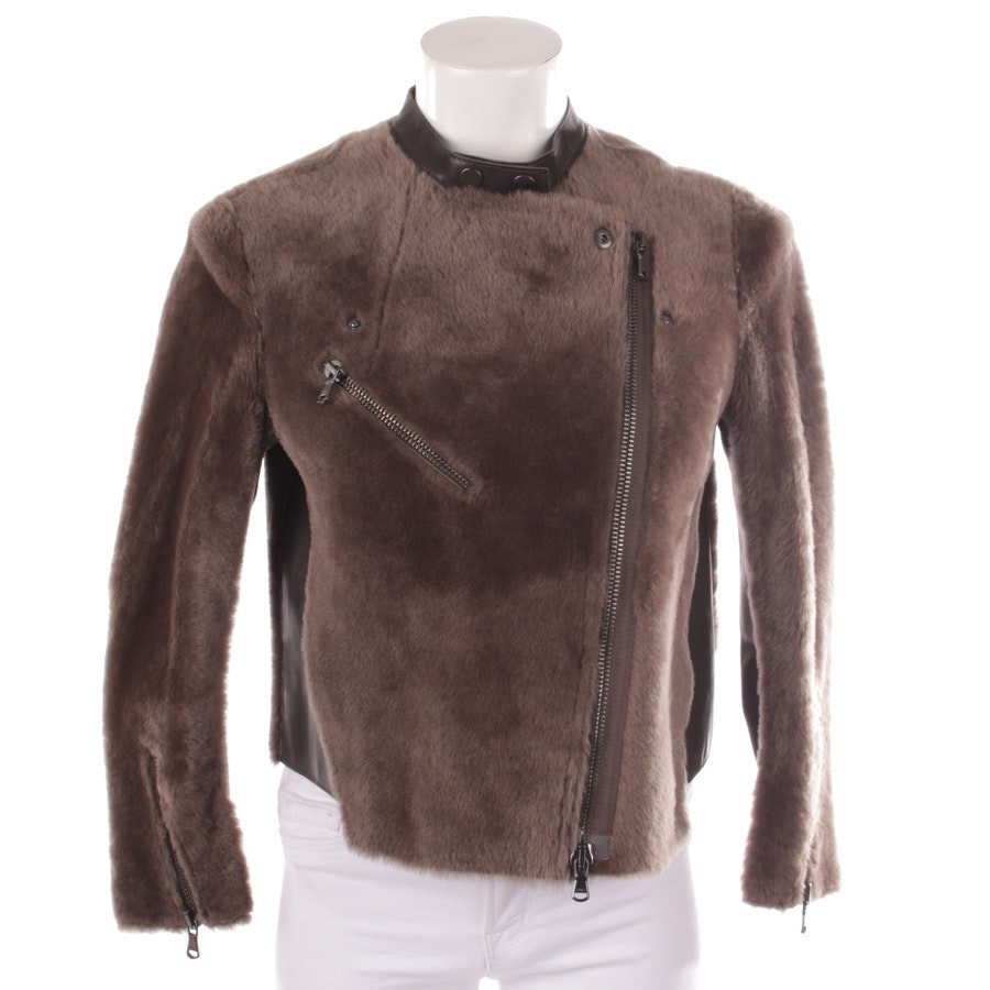 leather jacket from 3.1 Phillip Lim in grey-brown size 32 US 2