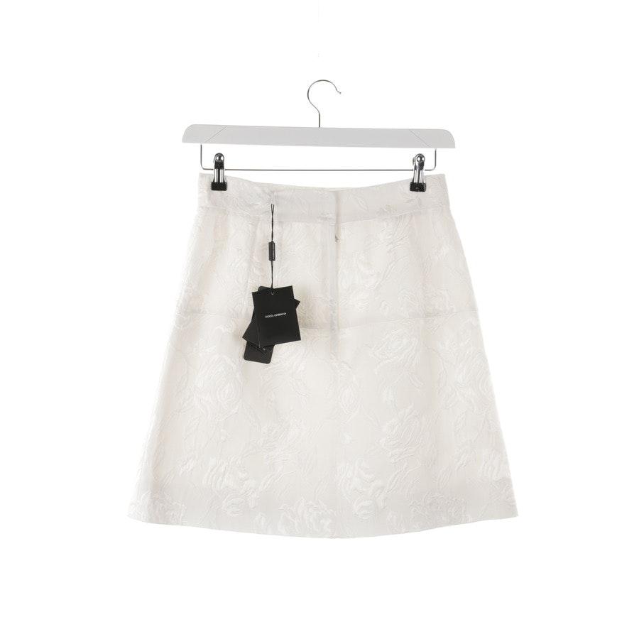 Rock von Dolce & Gabbana in Weiß Gr. 34 IT 40 Neu