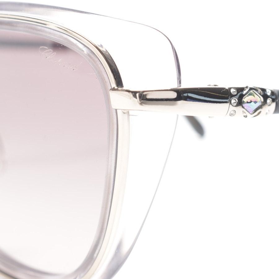 Sonnenbrille von Chopard in Silber und Grau SCHD40S Neu