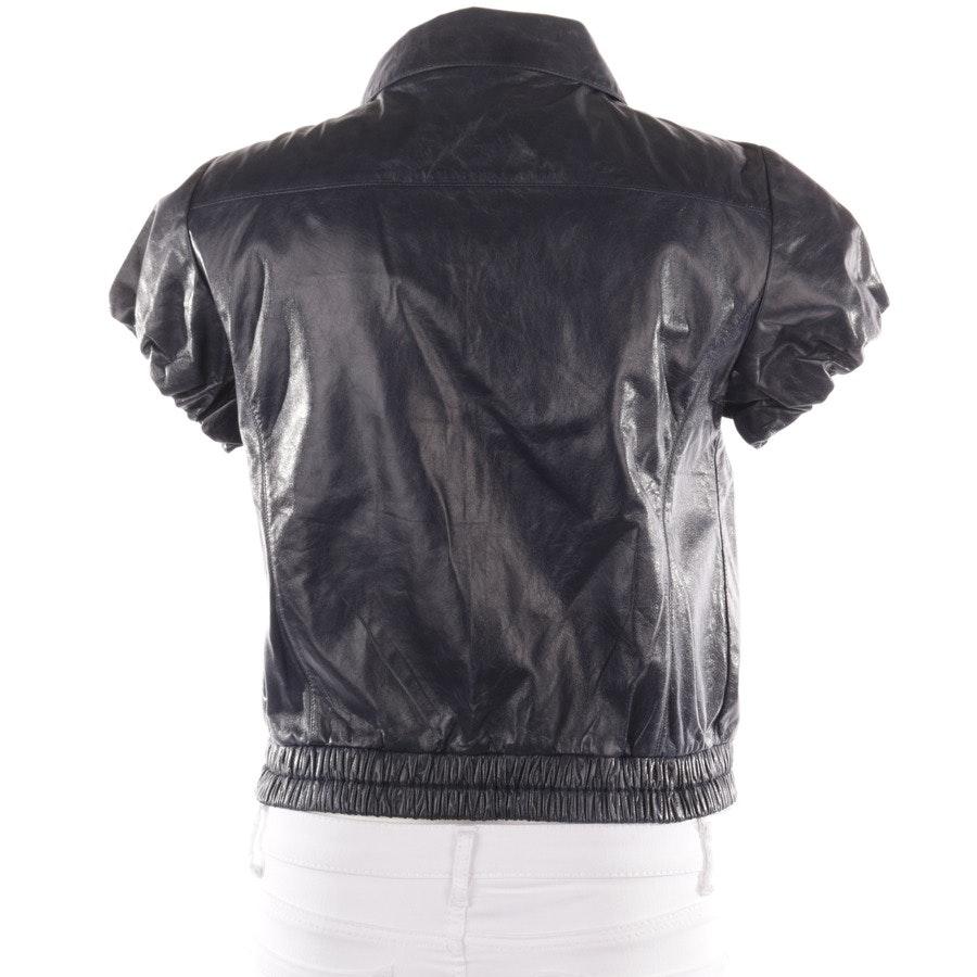 leather jacket from Prada Linea Rossa in dark blue size 38 IT 44