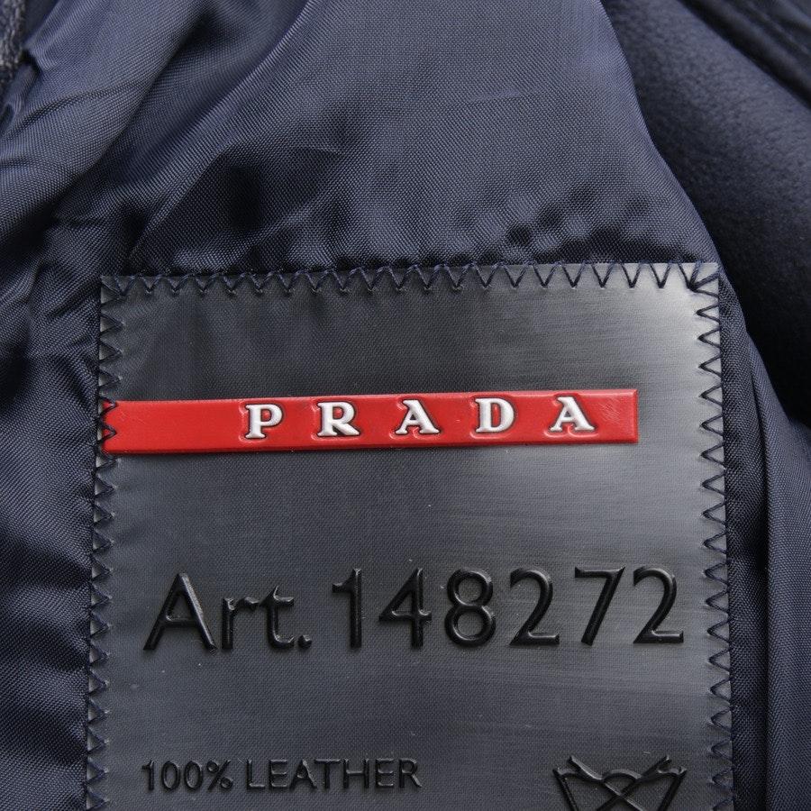 Lederjacke von Prada Linea Rossa in Dunkelblau Gr. 38 IT 44