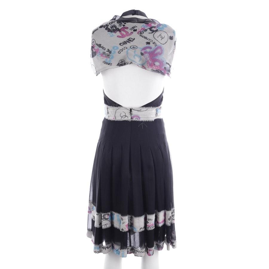 Seidenkleid von Chanel in Schwarz und Mehrfarbig Gr. 34 FR 36